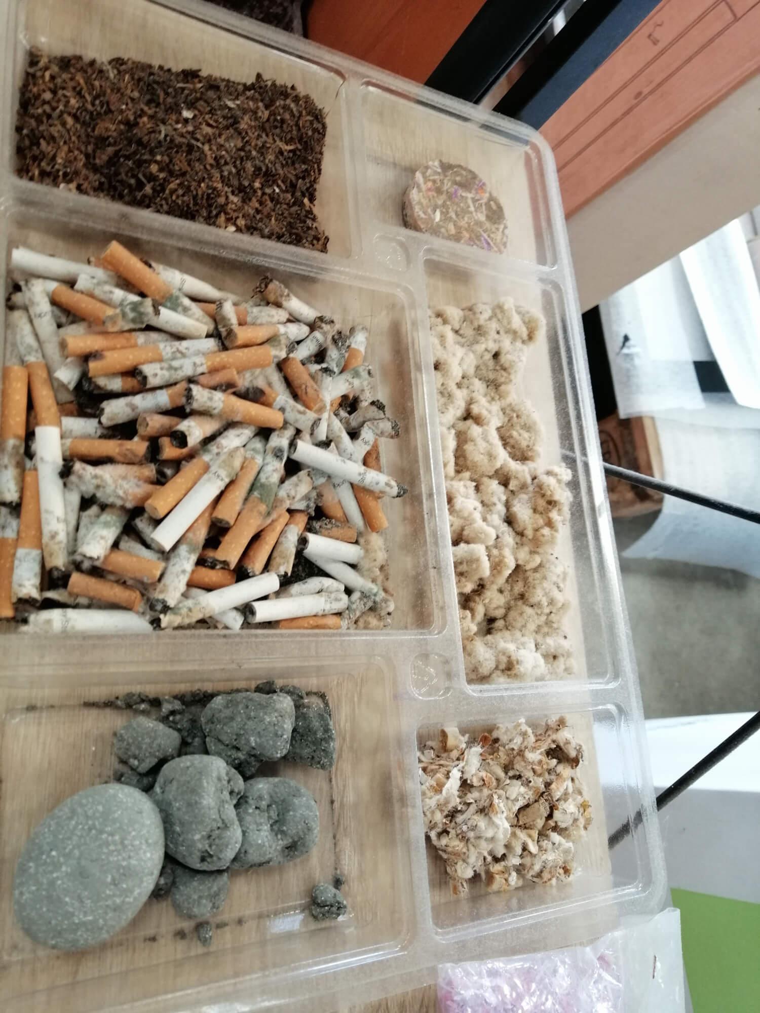 Processus de recyclage des mégots de cigarette