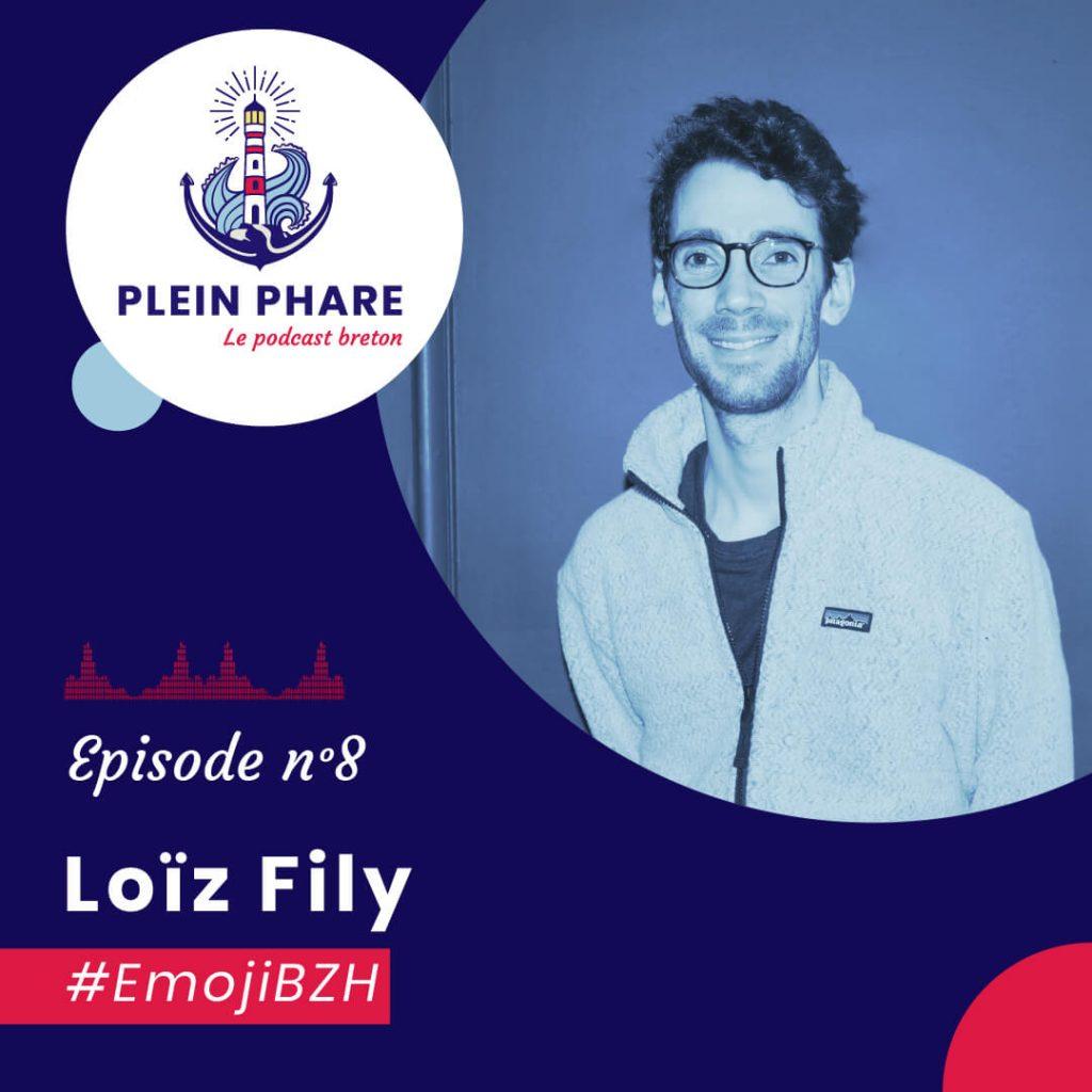 Episode 8 : Obtenir l'EmojiBZH avec Loïz Fily de l'association .bzh à Quimper - Plein Phare, le podcast breton
